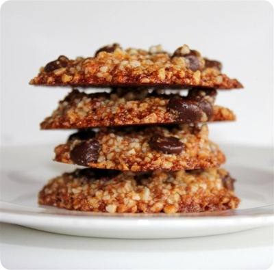 almond chocolate chip cookies- vegan/gf