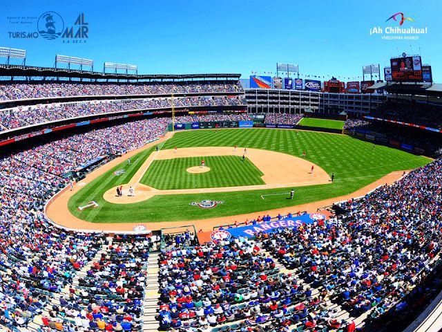 TURISMO AL MAR S.A. DE C.V. buscando estar siempre a la vanguardia para ofrecerle los mejores lugares turísticos en el Estado de Chihuahua y en el Extranjero. En esta ocasión le ofrece asistir al juego de Béisbol de las Grandes Ligas, entre los Rangers de Texas vs Yankees de Nueva York. Incluye transportación en autobús viaje redondo, dos noches de alojamiento y entradas al juego. Informes y reservaciones al teléfono (614) 410 9232 o 416 5950 www.coppercanyon.mx #visitachihuahua