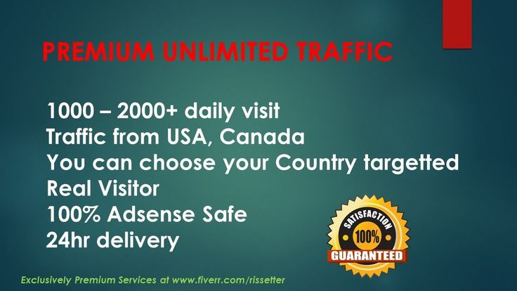 PREMIUM UNLIMITED Targetted TRAFFIC