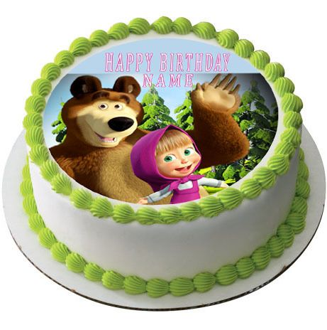 Masha and the Bear 1 Edible Birthday Cake Topper