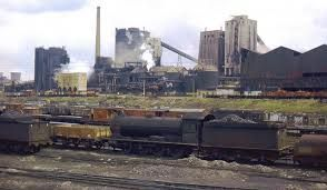 Consett Steel Works, where many of my Father's family once worked.