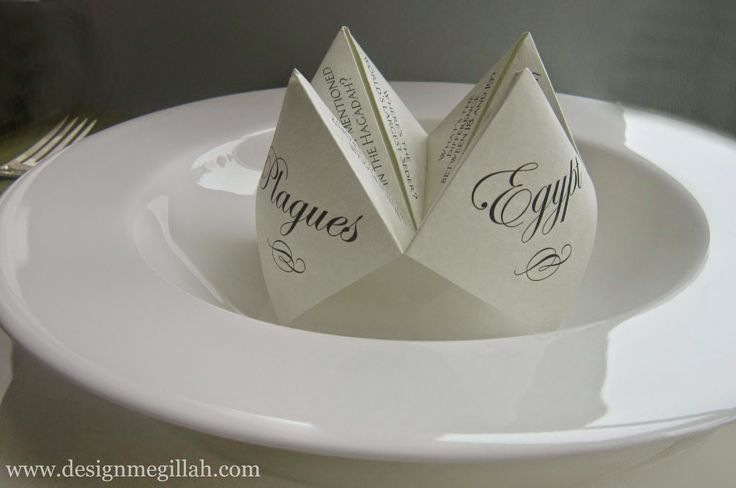 New For Your Seder Table: Cootie Catchers   Interior Design inspirations and articles