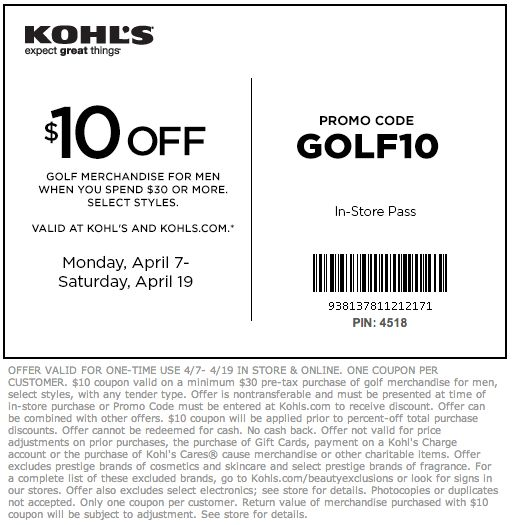 graphic about Big 5 $10 Off $30 Printable referred to as Kohls printable coupon codes 5 off 25