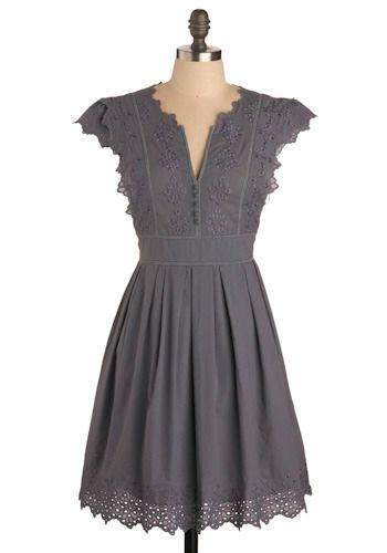 cute dress in grey.... Vintage Clothes