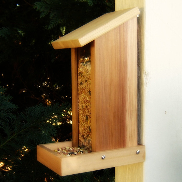 Bird feeder hopper type from reclaimed wood by for Where to get recycled wood