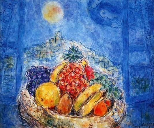 marc chagall famous paintings   on chagall b marc chagall fruit bowl 1910 1914 dali