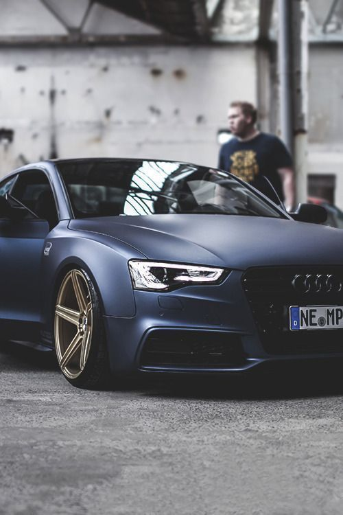 Matte blue Audi S5, love it