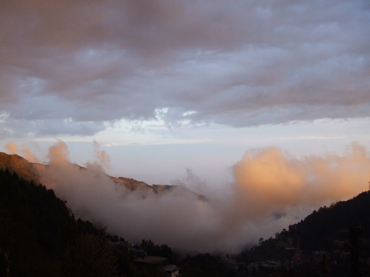 Spectacular cloud formation... view from our terrace at Jagatram