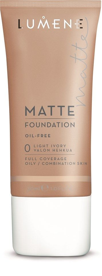 Lumene Matte Foundation 0 Light Ivory