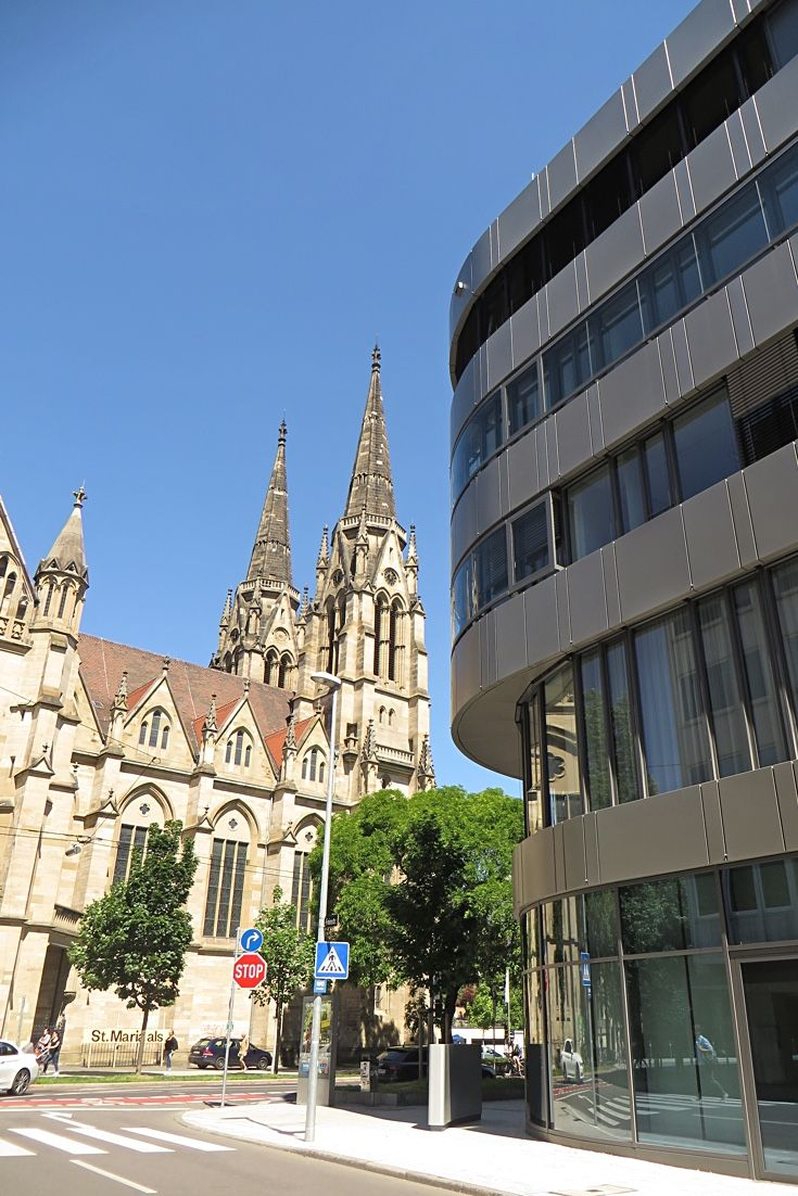 Some of our serviced apartments are right next to this old church (St. Maria) - Stuttgart short term rentals