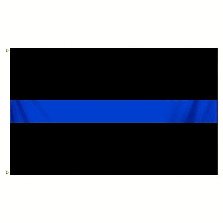 THIN BLUE LINE FLAG  3 X 5  FOOT Police Department and Law Enforcement FLAG