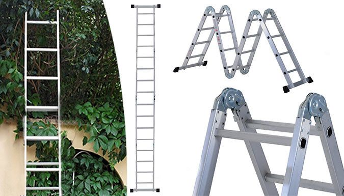 Buy 2.3m Multi-Way Extendable Aluminium Ladder UK deal for just: £54.99 Painting, decorating, tidying and DIY-ing; do it with the Extendable Aluminium Ladder      Can be used as a single or double ladder, trestle, work platform and more.      Durable and lightweight frame is ideal for using around the home and garden      Safety locks and bottom with rubber protective pads to help you feel...