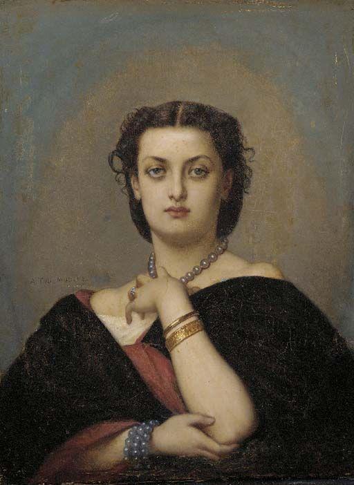 Auguste Toulmouche -.Portrait de femme
