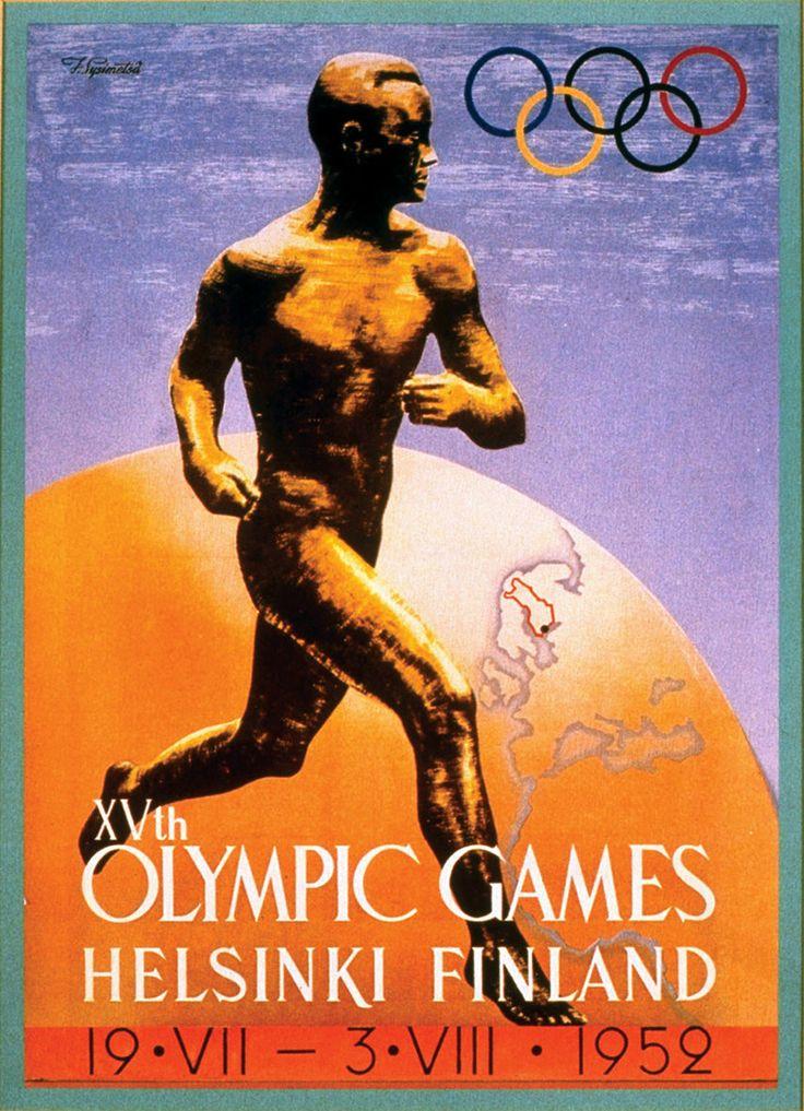 Affiche Jeux Olympiques d'été Helsinki 1952