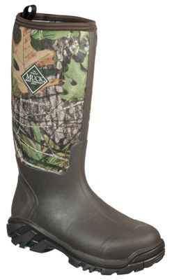 The Original Muck Boot Company Woody Sport Cool Rubber Work Boots for Men - Mossy Oak Break-Up - 8 M