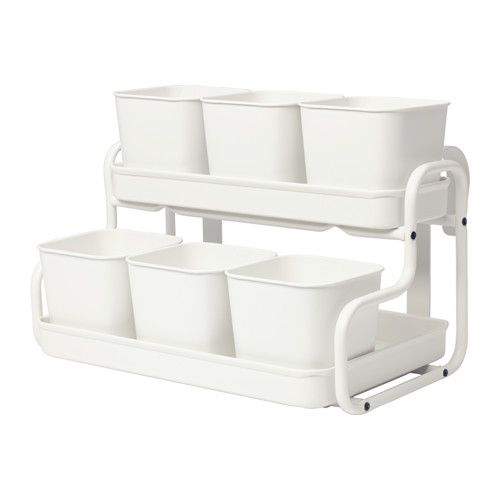 IKEA - SOCKER, Plant pot with holder, You can hang the flower box and plant pot from a balcony rail and create a decorative garden, even in a small space.