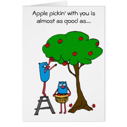 Apple Pickin' with you: Autism Charity Card - diy cyo customize create your own personalize