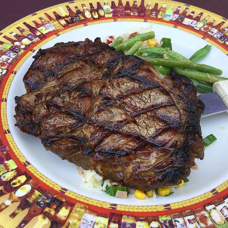 Smoked prime rib steak at #honeycreekinn #primerib #steak #cannonsburg