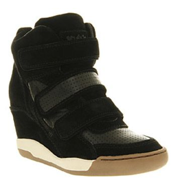 Ash Alex Wedge Sneaker Black Suede Leather - Ankle Boots