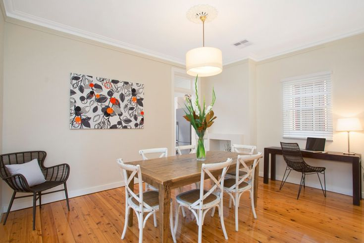 Impeccably presented and invitingly private residence, timber table, french provincial chairs, 79 Ferris Street Annandale, study nook, Pilcher Residential