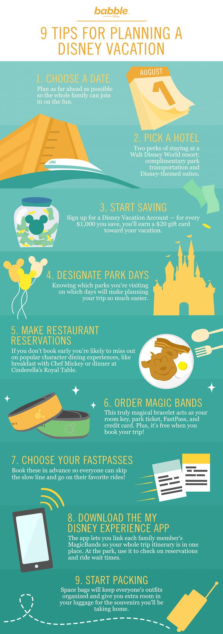 Planning a vacation to Walt Disney World is serious business! From pictures, to outfits, to assuring you get on the best rides, take some of our advice and use these 9 tips to plan the most magical WDW trip ever!
