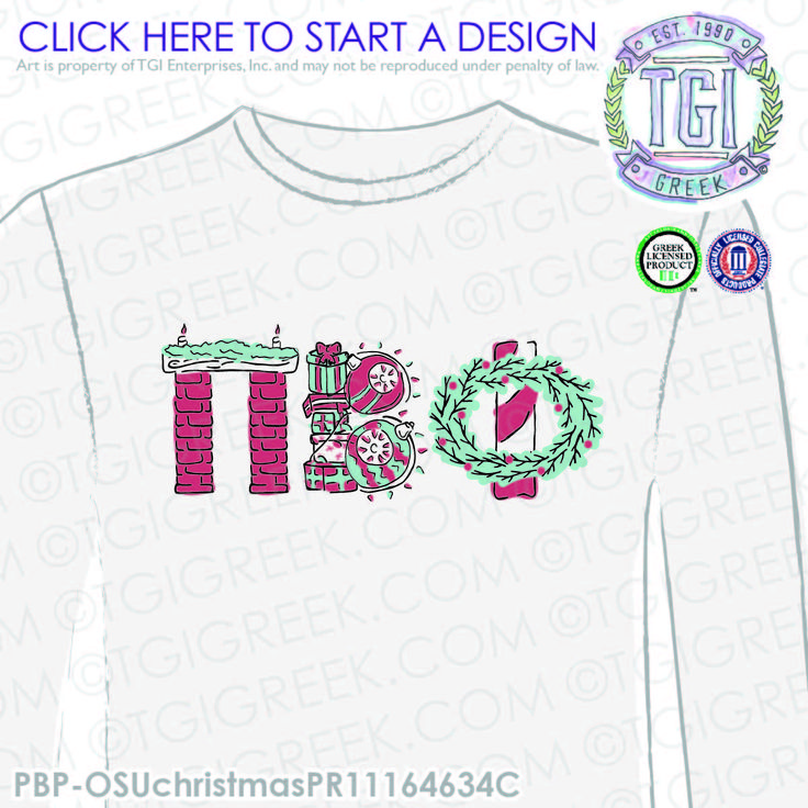 Pi Beta Phi | Pi Phi | ΠΒΦ | Christmas PR | Sorority PR | Sorority PR Tees | Christmas T-shirts | Sisterhood | Greek Mixers | TGI Greek | Greek Apparel | Custom Apparel | Sorority Tee Shirts | Sorority T-shirts | Custom T-Shirts