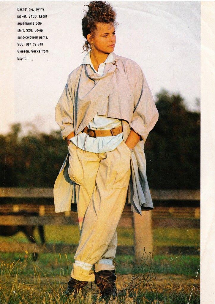 Classic eighties fashion moment. Model is Sarah Nursey.