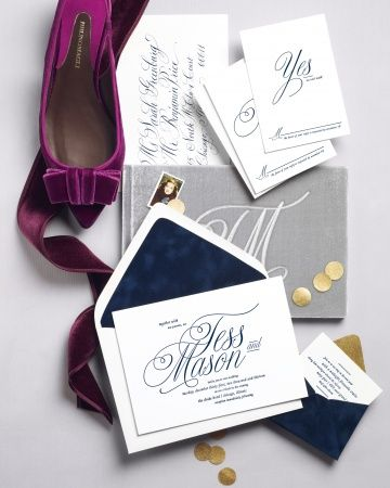 "Martha Stewart Weddings Fall 2103 / Prêt-a-Papier ""Jackie O"" suite by @42 Pressed 