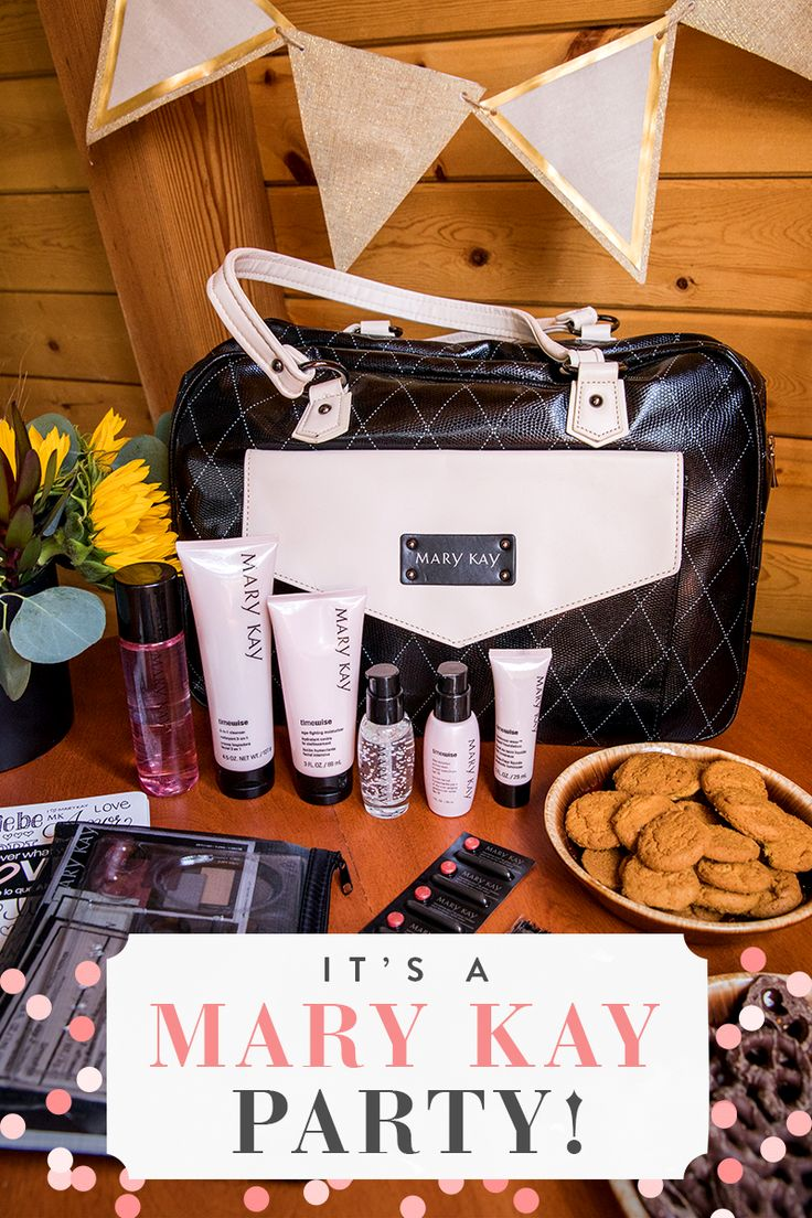 All the makings of a fabulous Mary Kay party! Hang out with friends, pamper skin and play with makeup. Click to get your invite!