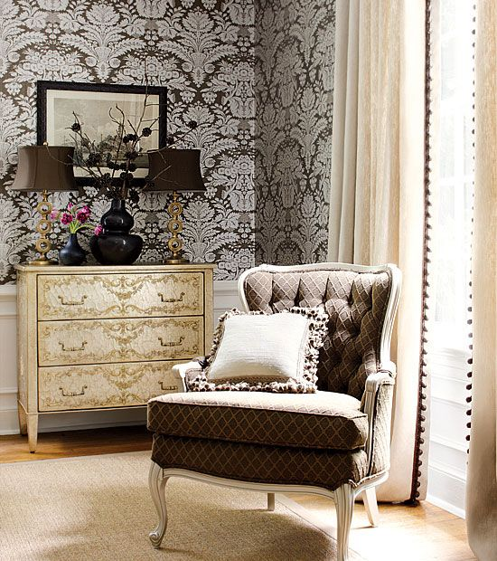 home: Living Rooms, Rooms Decor Ideas, Wallpapers Patterns, Fabrics Patterns, Damasks Resources, Bedrooms Decor, Thibaut Wallcov, Ideas Furniture Decor Diy, Vintage Rooms