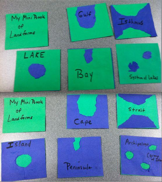 Book of Landforms (similar to Montessori landform nomenclature cards)
