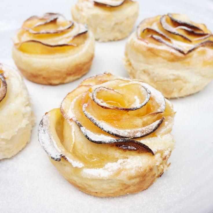 appeltaart bladerdeeg roosjes #video #recept www.madebyellen.com