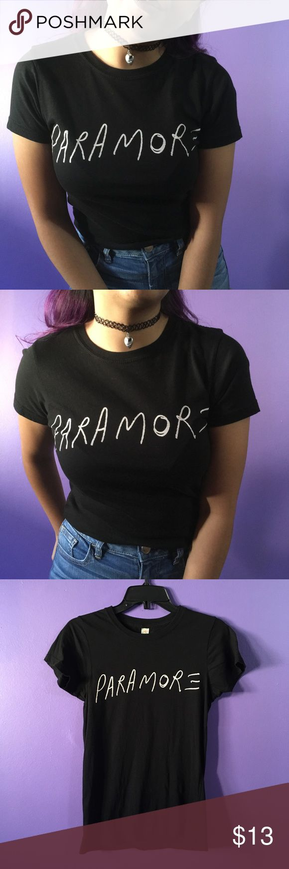 Black Paramore Shirt Simple tee has paramore's self titled font. Good quality, soft & comfortable. Has been worn twice & shows no flaws. Listed in junior size. Hot Topic Tops Tees - Short Sleeve