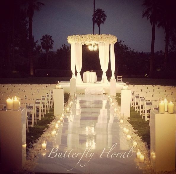 Night Beach Wedding Ceremony Ideas: Midsummer Night Dream Wedding