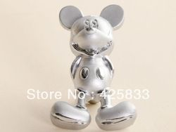 Online Shop Fashion 10pcs Silver Mickey Mouse Handles Furniture Kids Cartoon Drawer Knobs and Handles for Kitchen Cabinet Dresser Pulls|Aliexpress.com
