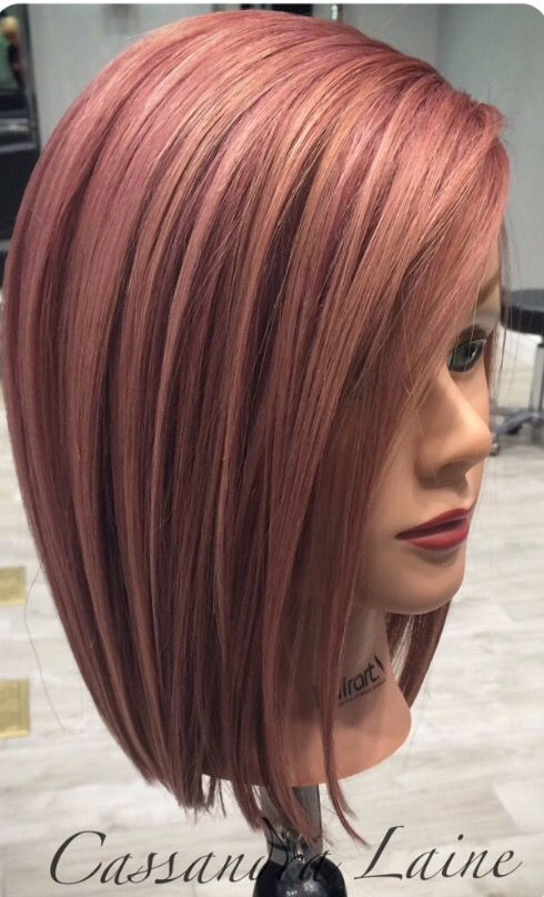 I love this colour of Rose gold hair my next choice when styling in 2016!