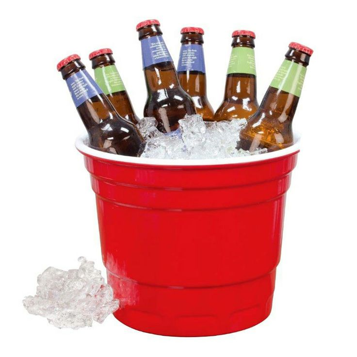 Giant Red Party Cup Ice Bucket
