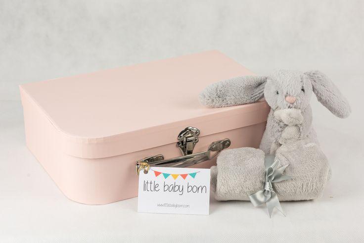 Regalos y canastillas para recién nacidos - Little Baby Born - Maletín Estrellas Rosas para niña recién nacida