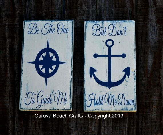 Anchor Decor Two Wood Signs Nautical Wood Signs by ...