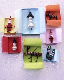 Simple sewing notions can make whimiscal ornaments ideal for children to hang with care.