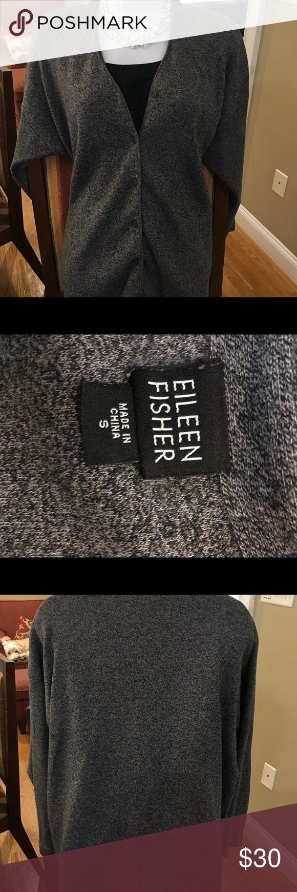 Eileen Fisher Gray Heather cardigan Women's small Gray cardigan, 100% cotton. Eileen Fisher Sweaters Cardigans