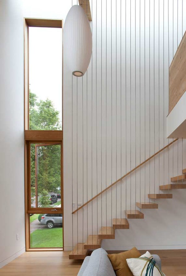 Interior : Fascinating Interior Wood Floating Staircase Modern House In  Portland ~ Nickhomedesign