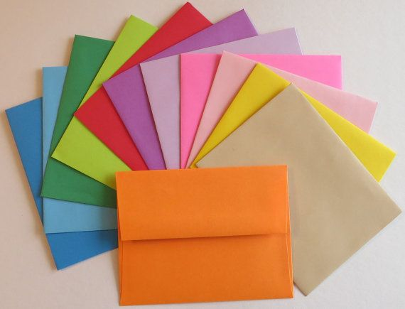PE28  25 pc. Solid  Color Envelopes A2 60 lb. 4 by ClearbagsRUs, $2.79