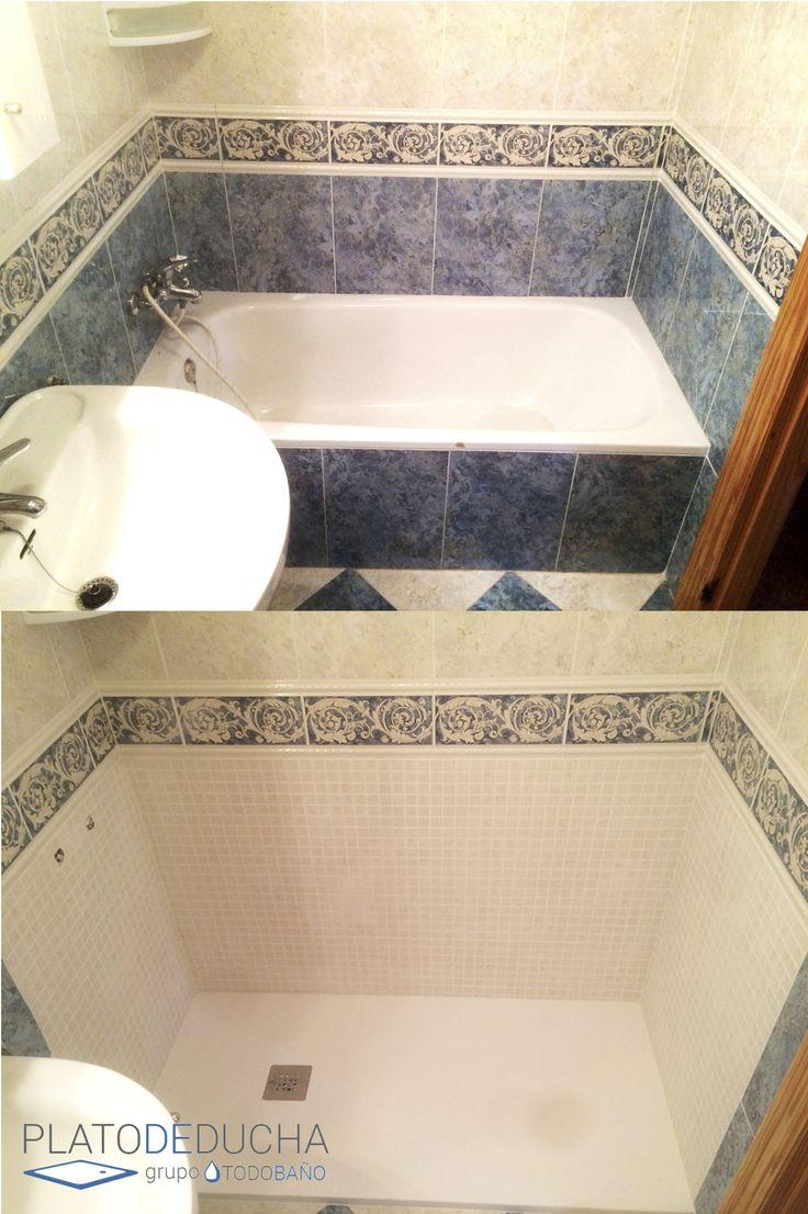 Reforma Baño Banera Por Ducha:Reforma de un cuarto de baño en la que sustituimos la bañera por un