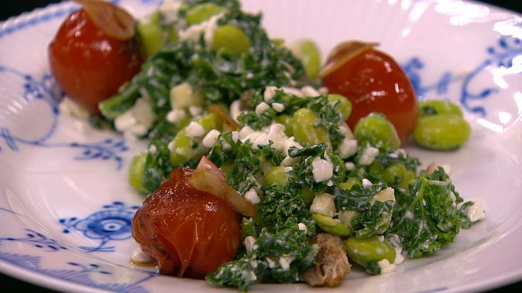 Makrel og tomat... og den fineste grønkål