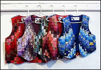 Photo of bargello vests.