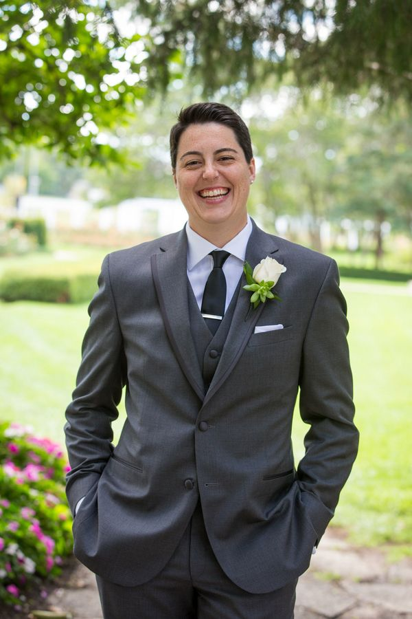 blush and gray rockford waterfront lesbian wedding butch