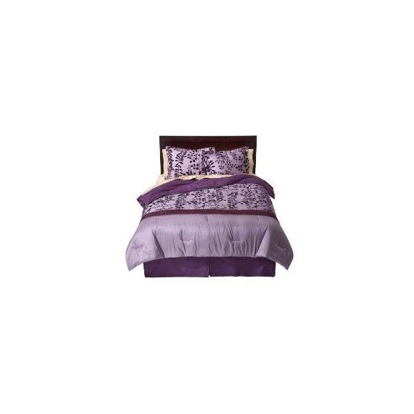 Home Flocked Comforter Set - Purple : Target ❤ liked on Polyvore featuring home, bed & bath, bedding, comforters, bed, furniture, letti, purple comforter sets, purple bed linen and purple comforter