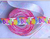 1 mètre de Ruban motifs Bisounours 25mm ribbon care bears Rainbow  : Rubans, biais pour bijoux par lilycherry sur ALittleMercerie