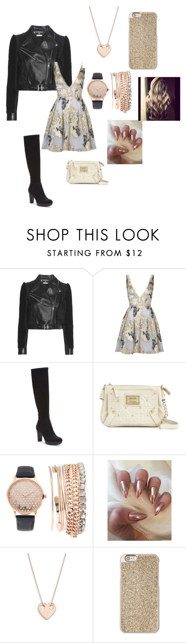 """cute and dangerous"" by moriartylauren on Polyvore featuring Alexander McQueen, Notte by Marchesa, Donald J Pliner, Nicole By Nicole Miller, Jessica Carlyle, Ginette NY and Michael Kors"